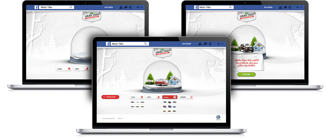 Volkswagen Commercial Facebook New Year Campaign